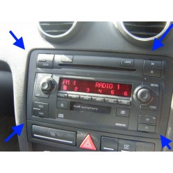 AUDI A3 Double din dashboard symphony cd stereo tape stereo cage manual